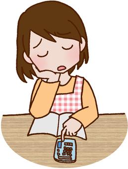Household account book / savings / pocket money /