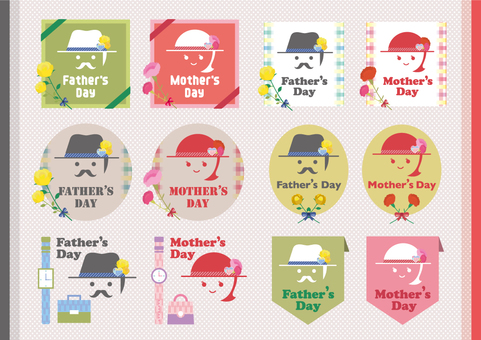Father's Day & Mother's Day Icon Set_03