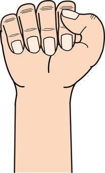 Hand series deformed hand holding hand