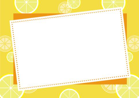 Sliced lemon Landscape Background material 2
