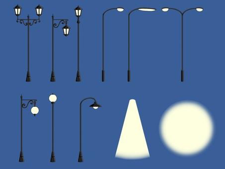 街灯セット素材