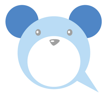 Bear type balloon _ blue