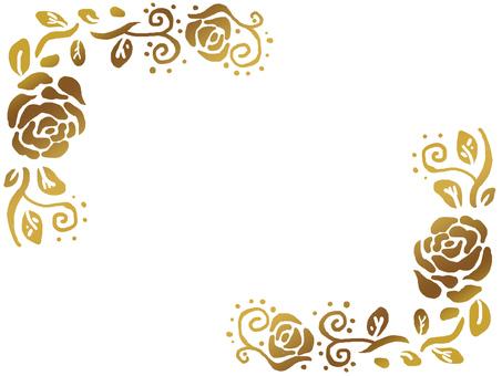 Gold rose frame