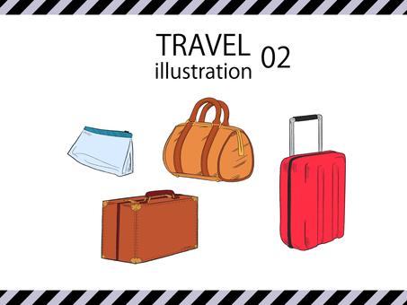 Travel illustration set 02 color version