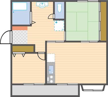 2LDK Floorplan
