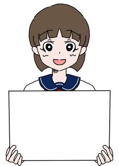 Panel + Sailor female student