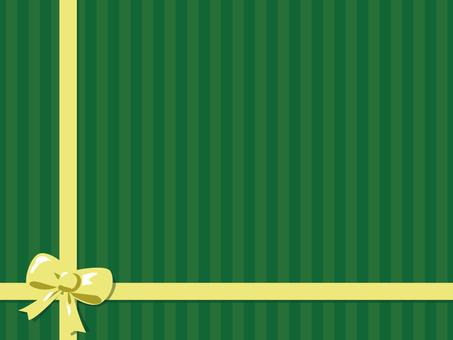 녹색 줄무늬 2 리본