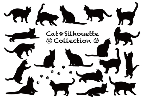Cat's silhouette collection