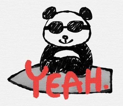 Panda wearing sunglasses