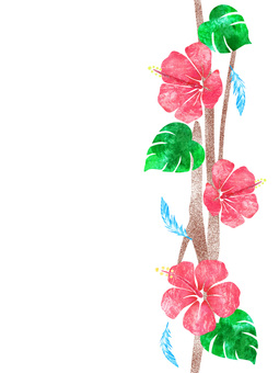 Blue Bird _ Hibiscus _ Line 02