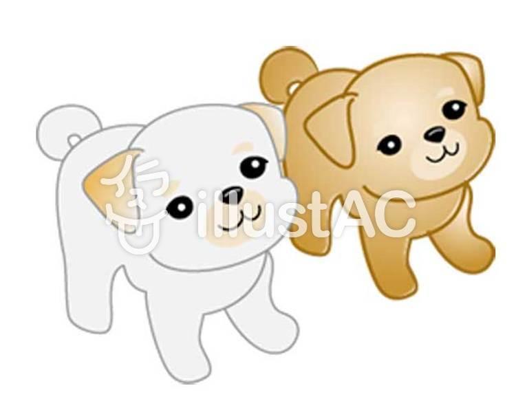 子犬のイラスト01のイラスト
