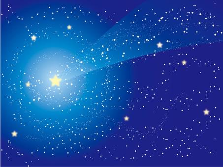 星空に流れ星