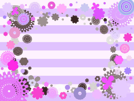 Flower pattern assorted striped purple