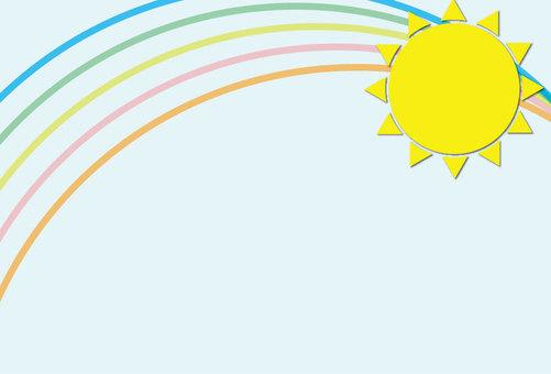 The sun and rainbow