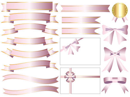 Ribbon's icon set pink