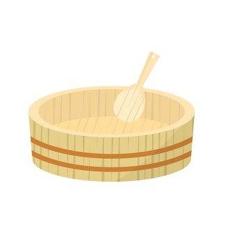 Sushi and sushi tub