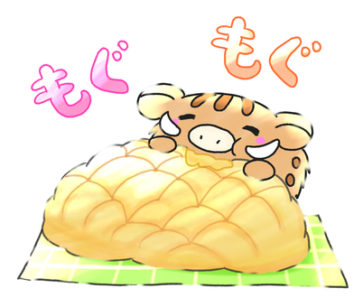 メ ロ ン melon bread