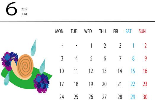 June Snail Calendar