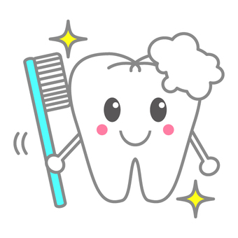 Illustration of teeth Toothpaste