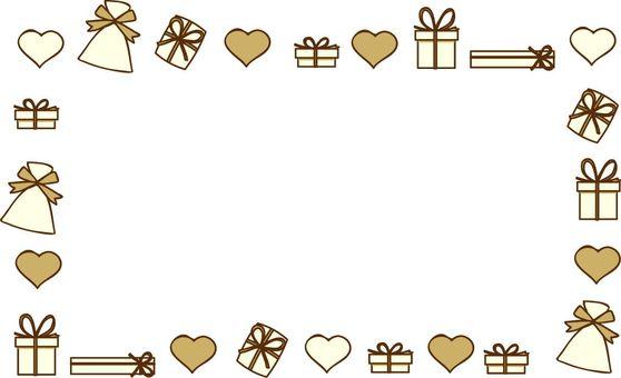 Kalp ve hediye çerçevesi 2