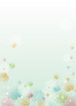 日式背景(雪花/綠色)