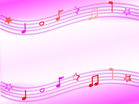 Musical note pink background