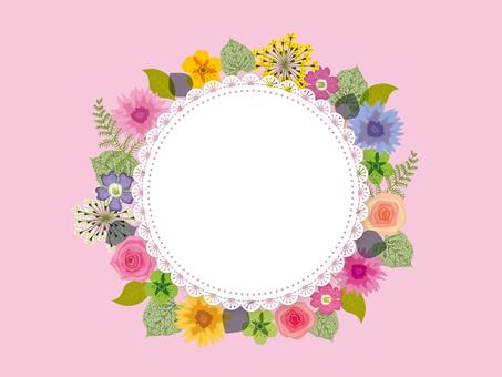 Flower frame _ pink