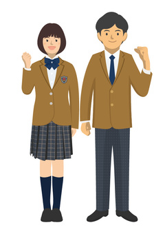 Student_uniform of men and women -2 - 3 _ whole body