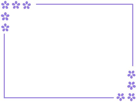 Simple flower frame