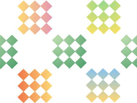 Gradation lattice pattern