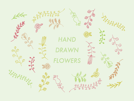 Handwritten flowers and plants 1
