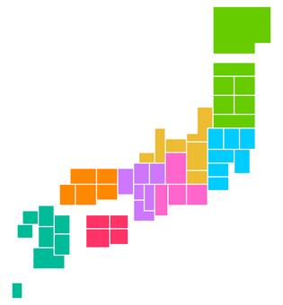 Japan map (design)