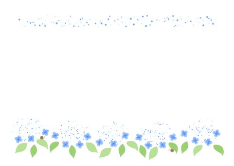 Hydrangea Frame (Blue)