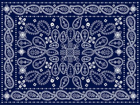 Paisley pattern blue