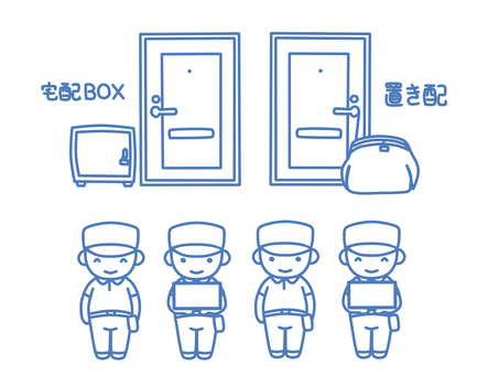 Deliveryman and delivery box