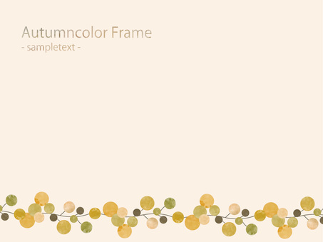Fall color frame ver77