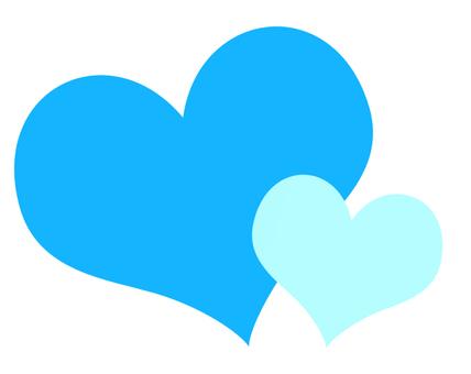 Heart (blue)