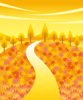 紅葉の絨毯の風景