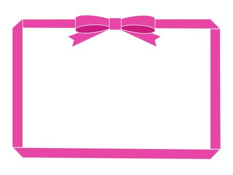 Pink ribbon frame 2