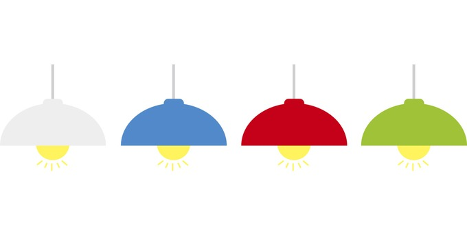 Illustration of electric light (pendant light)
