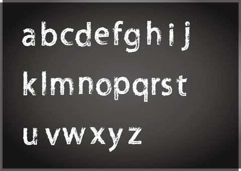 Chalk letters lowercase