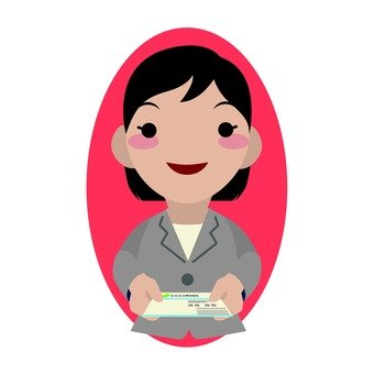 Female employees who issue business cards