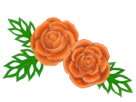 Carving _ carrot roses and cucumbers leaves