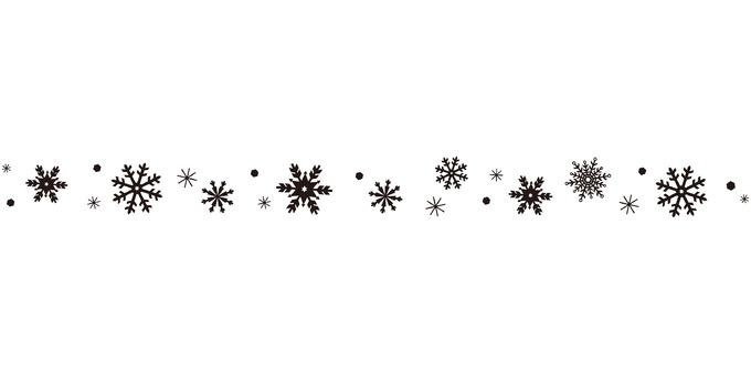 雪水晶線黑色