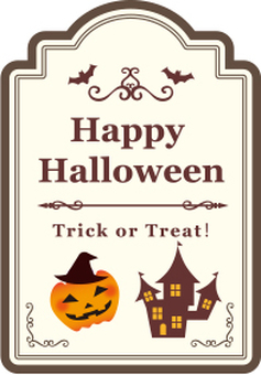 Halloween material tag card