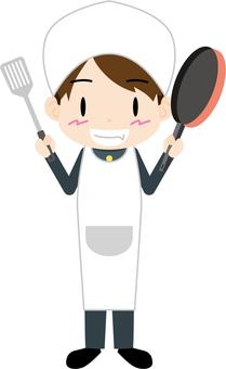 男學生(做飯)