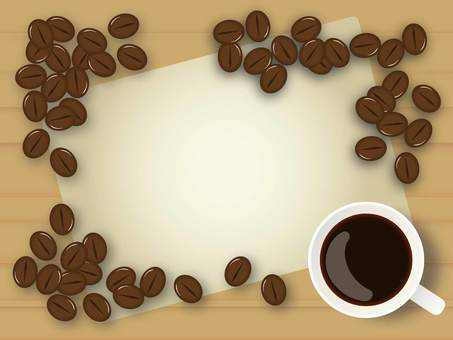 Coffee bean frame
