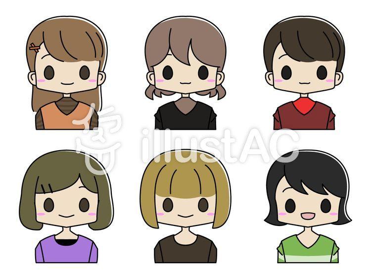 女の子 髪型 イラスト