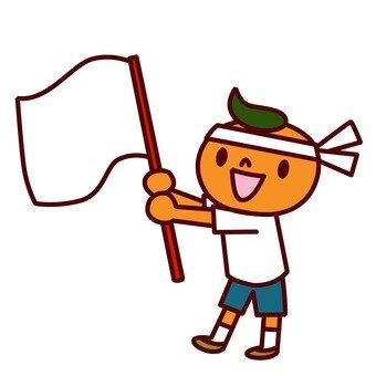 Shake the flag and cheer 1