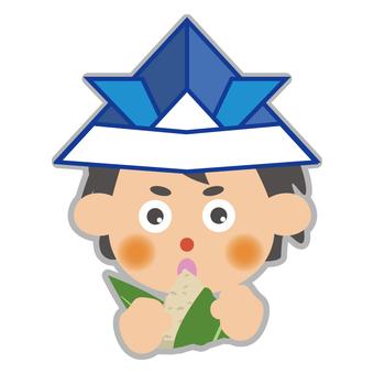 A boy who eats chimaki